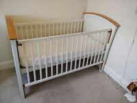 Mamas & Papas Cotbed PLUS matching changing table & mattress
