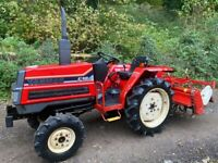 Yanmar F18D 4WD Compact Tractor & Rotavator *** WATCH VIDEO *** Larger tractor
