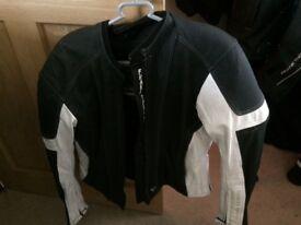 Ladies frank Thomas leather bike jacket