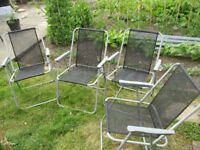 4 folding picnic chairs