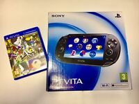 SOLD! PS Vita 8 GB Memory card, AR Play Cards and Persona 4 Golden GAME, Boxed, Wi-Fi Crystal Black