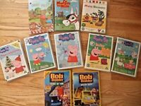10 Baby Toddler DVD 5 Peppa Pig, 2 Bob the Builder, Muffin the Mule Maisy Teddy Bear Picnic