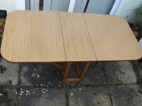 Vintage Drop Leaf Dining Table ideal space saver seats 6-8