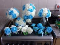 Wedding flower Package Ivory and Blue NOW SOLD THANKS