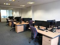 Office space to rent - Central Birmingham - Open plan area with 3 smaller offices + boardroom