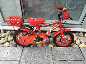 Fireman Sam kids bike