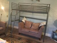 IKEA Svarta Loft Bed Frame - no mattress Ladder can be fitted left or right hand side