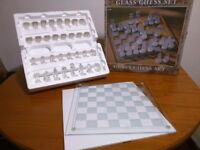 Glass Chess Set - Boxed