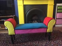 Kids multi coloured chaise longue seat