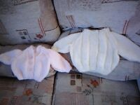 new born cardigans sizes 1 & 2 & 3 sixes hand made new