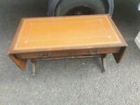 Old drop leaf table on claw feet £49