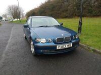 BMW Compact 318Ti SE E46 2003 03 reg, 2.0L Service History and MOT'd