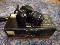 Nikon D3100 camera body only (18-55 VR Kit lens broken)