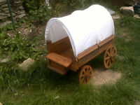 Model Pioneer covered Wagon working wheels and steering