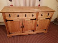 Old French Pine Sideboard/Dresser Base