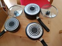 Tefal set of 3 pans