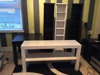 IKEA side tables/coffee table/ tv unit & CD/DVD towers