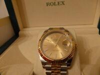 Rolex Datejust 126333 New 41MM Model Steel and 18 Carat yellow Gold , Genuine Rolex