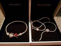 Pandora set bracelet and necklace