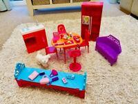 Barbie Ken Vintage Stacie Doll kitchen & other furniture