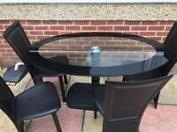 Glass table and 4 chairs *QUICK SALE*