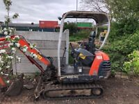 KUBOTA DIGGER KX41, EXCAVATOR, 3 Buckets with TRAILER for sale!Price £7050