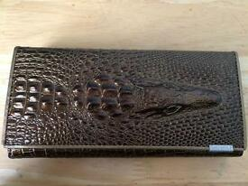 New luxury fashion Long purse wallet Alligator leather