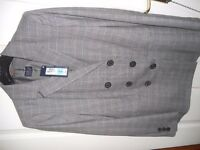 Ladies Marks & Spencer Jacket - prince of wales check, double breasted Size 14