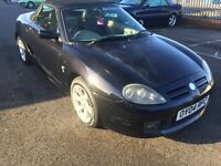 04 MG MGTF CONVERTABLE 1.8 LITRE PETROL ALLOY WHEELS RADIO/CD PLAYER MILEAGE 65732 MOT 21/06/17