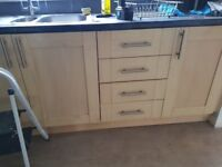 Kitchen units for sale including cooker & white goods
