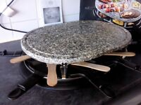 Raclette electric table top stone grill