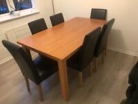 Wooden Dinging Table (chairs have now been sold)