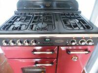 "Rangemaster""classic delux""dual fuel range cooker in cranberry"