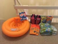 Selection of infant swimming items