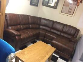 Real leather recliner sofa sale