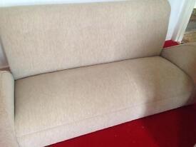 Unusual style 3 seater sofa. Retro?