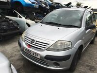 2002 CITROEN C3 LX (MANUAL PETROL)- FOR PARTS ONLY