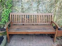 Solid Wood Garden three seater bench 5ft (from Crocus)