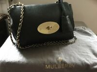 Genuine Mulberry Lily - black pebbled goat