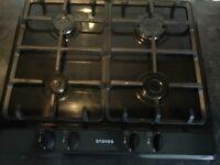 STOVES 4 gas burner hob (Black) - Almost New!