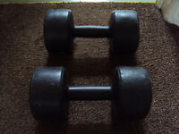 2 x 5kg Pro Fitness Dumbells