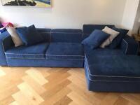 Large designer corner sofa