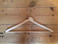 Set of 10 Wooden Clothes Hangers