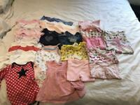 Bundle of girls 3-6 months clothes