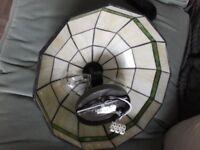 gorgeous tiffany glass flush ceiling light