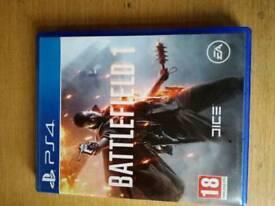 PS4 games.BATTLEFIELD 1 & C.O.D black ops3