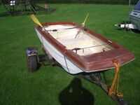 10 foot fishing boat, trailer and shakespeare 44lb thrust trolling motor