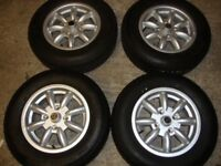 Brand new MGB Alloy Wheels + New fitted tyres 185/70/14