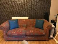 IKEA Aztec design 3 seater sofa