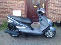 2008 Yamaha Cygnus 125 scooter, new 1 year MOT, low mileage, cheap insurance, good runner, not ps sh